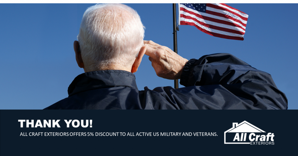 5% Discount for US Veterans